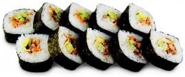Состав: лосось,огурец,японский омлет,икра масаго,спайси соус